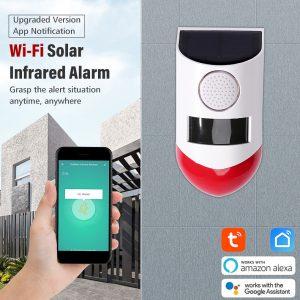 Buiten alarm met app en afstandsbediening