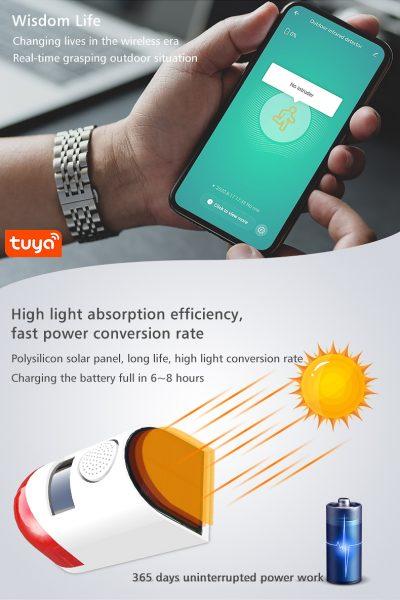 zonne energie slimme buiten alarm