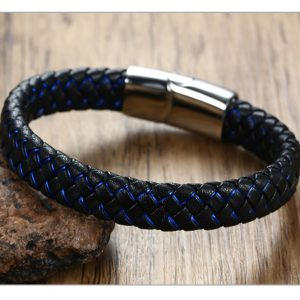 Blauwzwart Heren armband