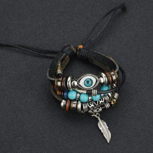 Heren Dames blauw oog vintage turkse armbanden