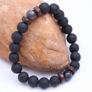 Vintage Heren Armbanden Kralen Natuurlijke Steen Buddha Maansteen