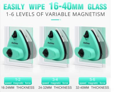 Verstelbare magnetische ramenwasser glazenwasser ruitenwisser dubbelglas dubbelzijdig