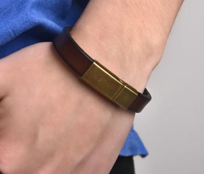 stijlvolle leren armband heren
