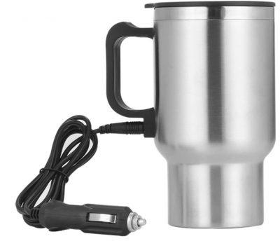 Elektrische Reisbeker 12V - Koffie Beker - RVS - Auto Beker - Verwarmde Reisbeker - 0.5L