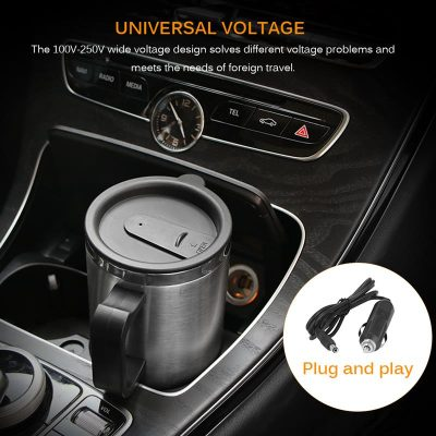 Elektrische mok voor koffie of soep 12v