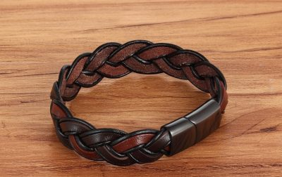 stoere bruine armband