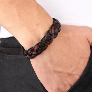 stoere bruine heren armband