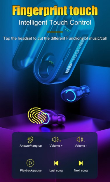 - Bluetooth Oortjes - Draadloze Bluetooth Oortjes - Earbuds - Earpods - Oortjes - Alternatief Galaxy Buds & Airpods - Oortjes Draadloos
