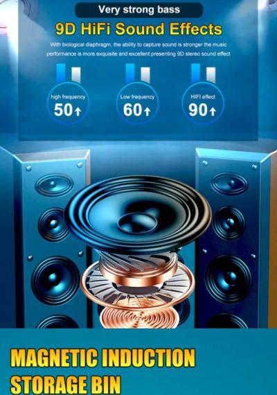 Draadloze Koptelefoon - Sport Waterdichte Hoofdtelefoon - Gaming Headset - 9D Stereo Oordopjes – Draadloze Koptelefoon Met Microfoon