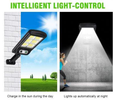 LED Buitenlamp draadloze waterdichte lamp bewegingssensor Solar licht voor tuin Tuinverlichting - Wandlamp Solar buitenverlichting bewegingssensor - Zonne-energie – Tuinverlichting voor hek en wand