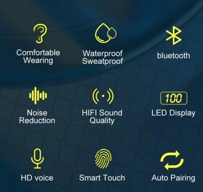 Oortjes Draadloos – Oortjes Bluetooth – Oortjes Met Microfoon – Oordopjes –