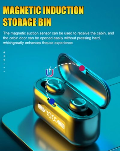 Sport Waterdichte Hoofdtelefoon - Gaming Headset - 9D Stereo Oordopjes – Draadloze Koptelefoon Met Microfoon – Ruis Onderdrukking