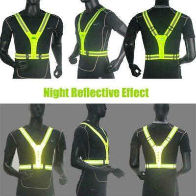 hardloopvest met verlichting – Hardloophesje - Hardloop verlichting – Hardloop lampjes – Hardloop licht – Reflectie hardlopen – Veiligheidshesje – Veiligheidsvest - Running Light